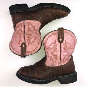 Justin Gypsy Pink Brown Chic Western Boot